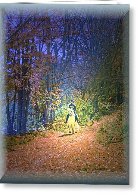 Autumn Memories- The Dreams Of Children Greeting Card by Patricia Keller