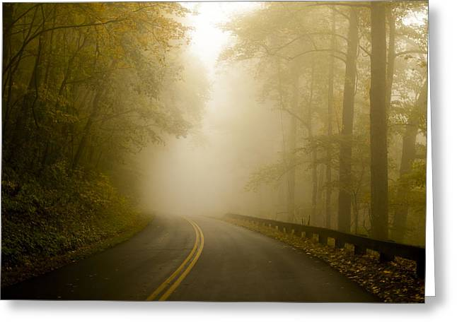 Autumn Mist Blue Ridge Parkway Greeting Card