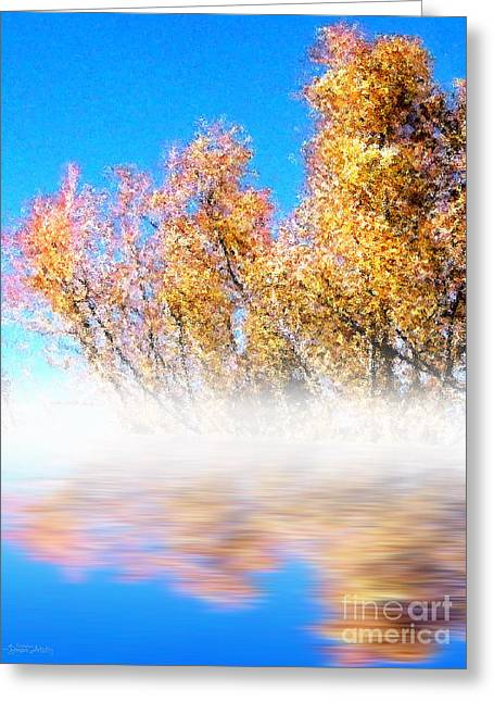 Greeting Card featuring the photograph Autumn Mist by Cristophers Dream Artistry
