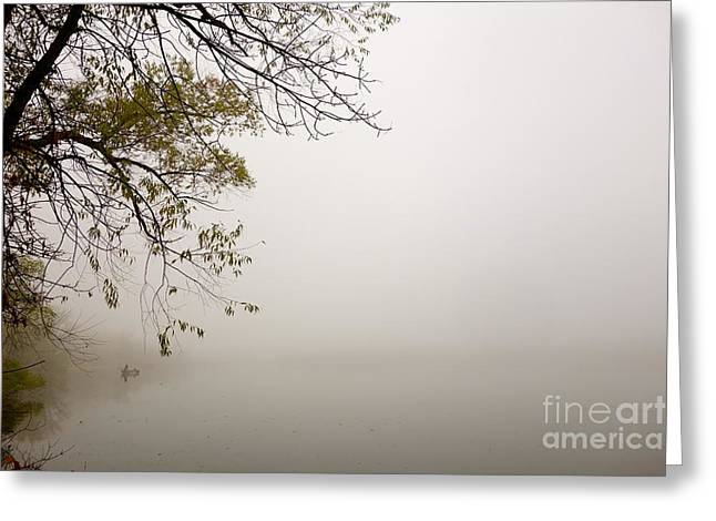 Greeting Card featuring the photograph Autumn Mist by Jacqueline Athmann