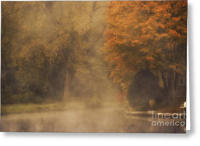 Autumn Mist Greeting Card by Julie Palyswiat