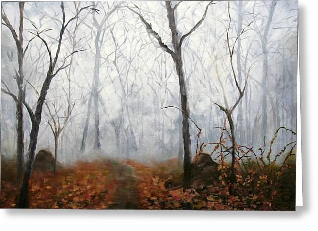 Autumn Mist Greeting Card by Marina Petro