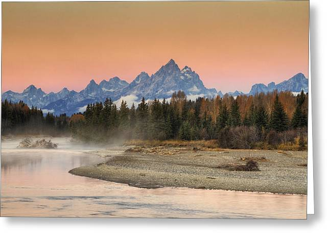 Autumn Mist Greeting Card by Mark Kiver
