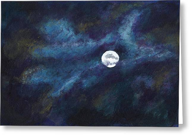 Autumn Moonscape Greeting Card