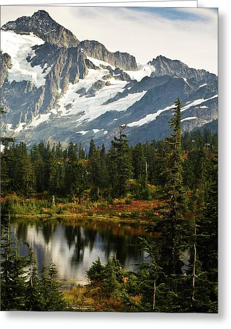 Autumn Mountainscape Greeting Card by Mike Reid
