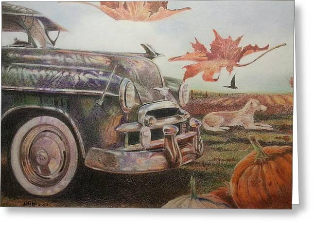 Autumn Greeting Card by NJ Brockman