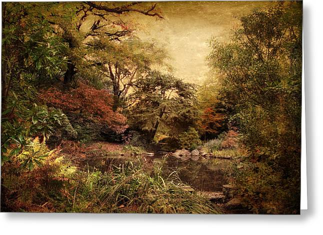 Autumn On Canvas Greeting Card by Jessica Jenney