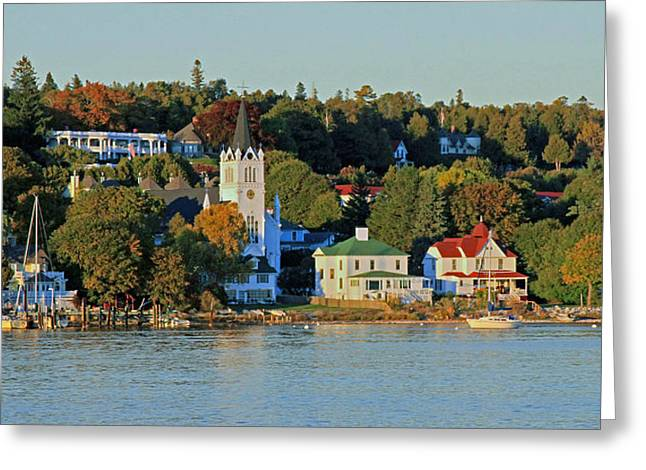 Autumn On Mackinac Island Greeting Card