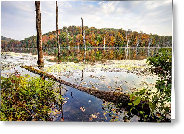 Autumn On Monksville Reservoir - Long Pond Ironworks Greeting Card