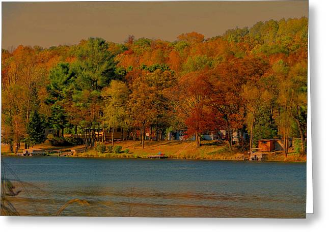 Autumn On Mt Noris Lake Greeting Card by Victoria Sheldon
