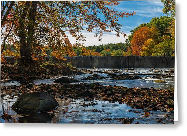 Autumn On The Assabet Greeting Card by Mark Raymond