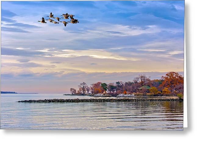 Autumn On The Chesapeake Bay Greeting Card