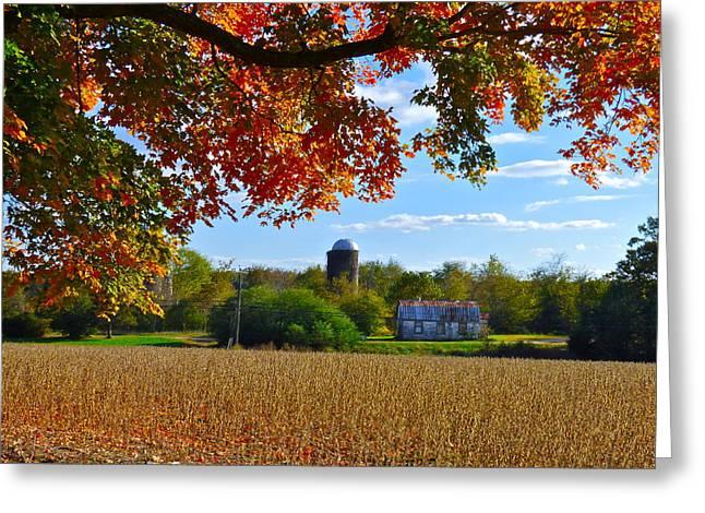Autumn On The Farm Greeting Card