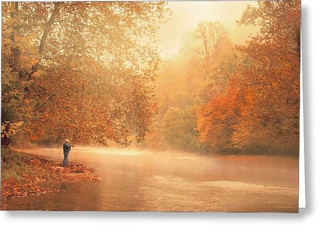 Autumn On The River Greeting Card by Dorothy Walker