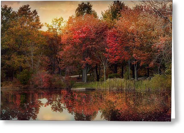 Greeting Card featuring the photograph Autumn On The River by Robin-Lee Vieira