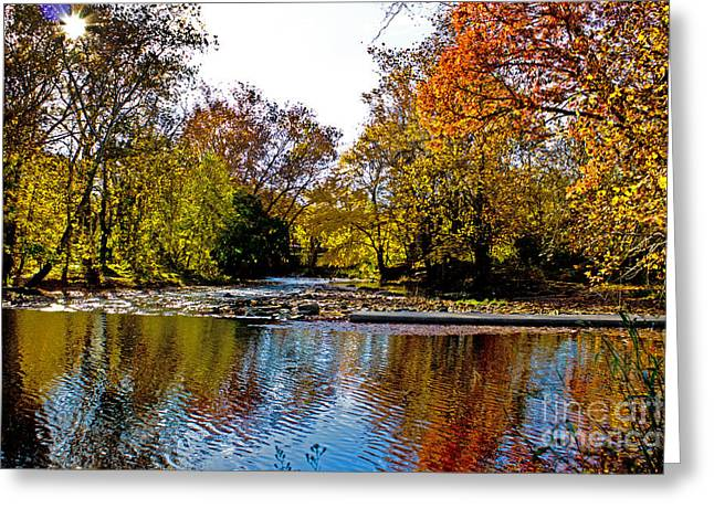 Autumn On The Water Greeting Card