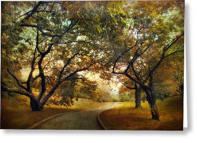 Autumn Orchard Greeting Card by Jessica Jenney