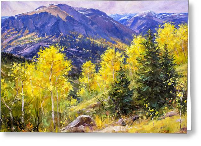 Autumn Overlook Greeting Card by Bill Inman