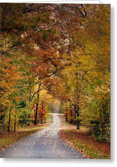 Autumn Passage 4 - Fall Landscape Scene Greeting Card