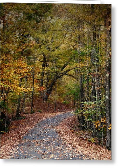 Autumn Passage 5 - Fall Landscape Scene Greeting Card by Jai Johnson