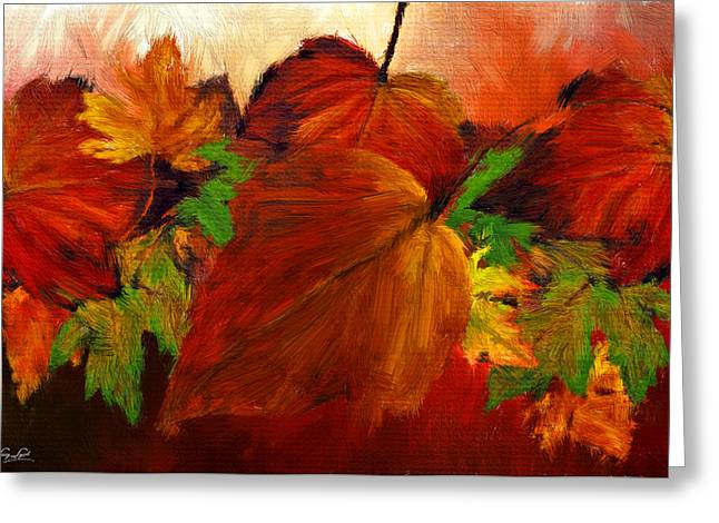 Autumn Passion Greeting Card