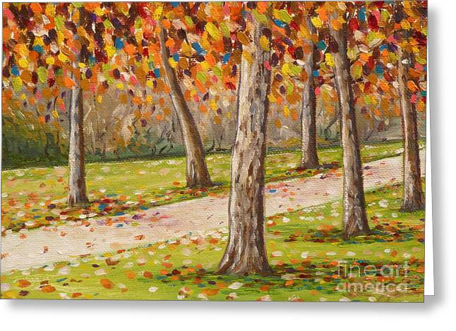 Autumn Path Greeting Card by Gayle Utter