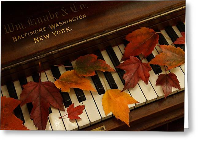 Autumn Piano 14 Greeting Card
