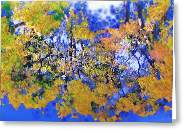 Greeting Card featuring the photograph Autumn Pond by Diane Miller