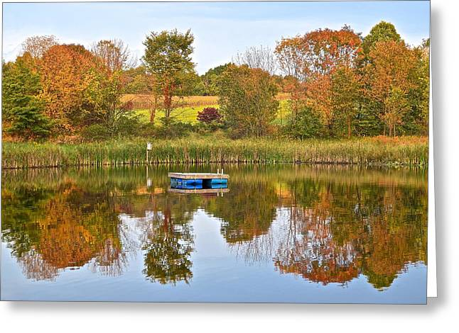 Autumn Pond Greeting Card by Frozen in Time Fine Art Photography
