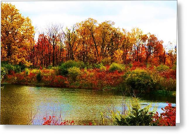 Autumn Pond Greeting Card by P Dwain Morris