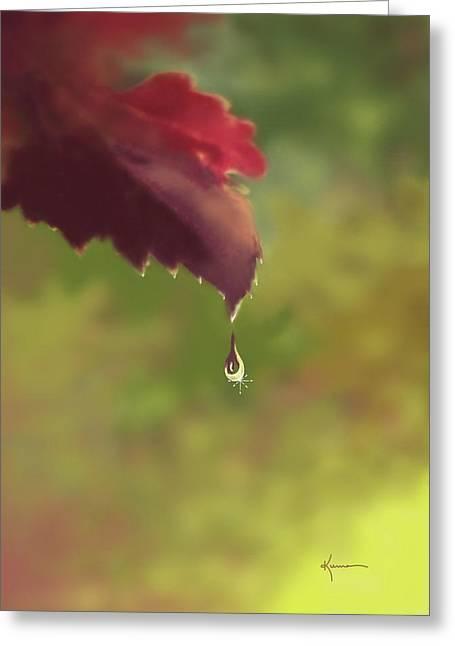 Autumn Rain Greeting Card by Kume Bryant