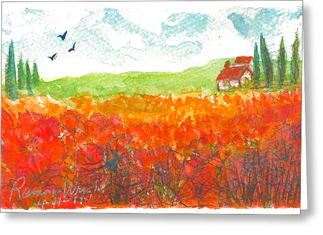 Autumn Greeting Card by Ramona Wright
