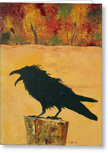 Autumn Raven Greeting Card
