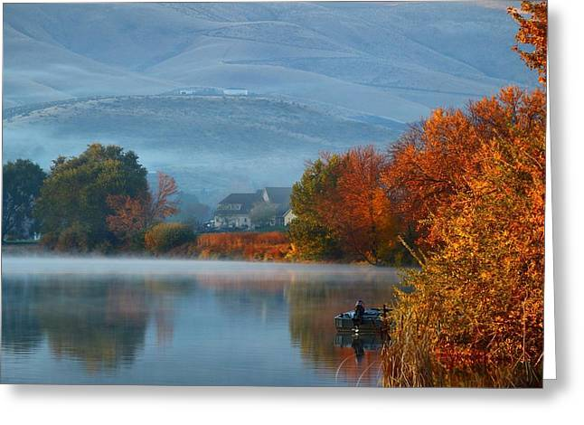 Greeting Card featuring the photograph Autumn Reflection by Lynn Hopwood