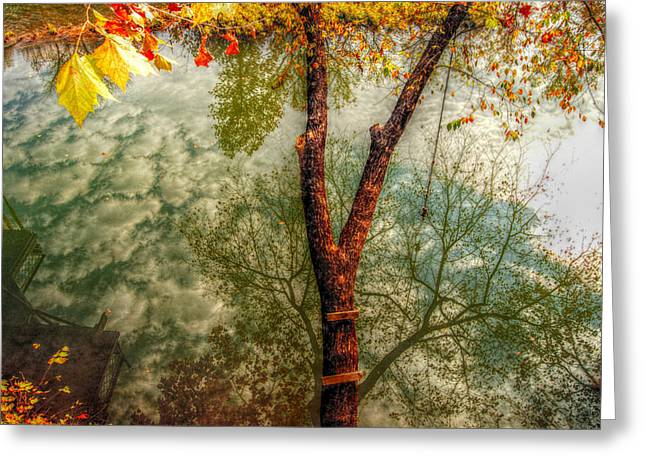 Greeting Card featuring the photograph Autumn Reflection  by Peggy Franz