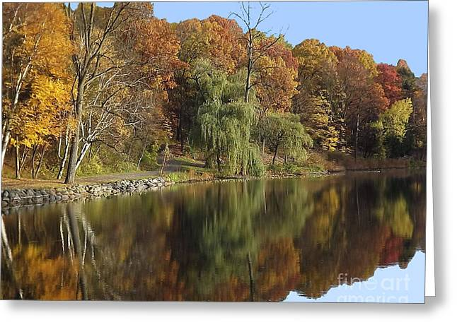 Greeting Card featuring the photograph Autumn Reflections by Bill Woodstock