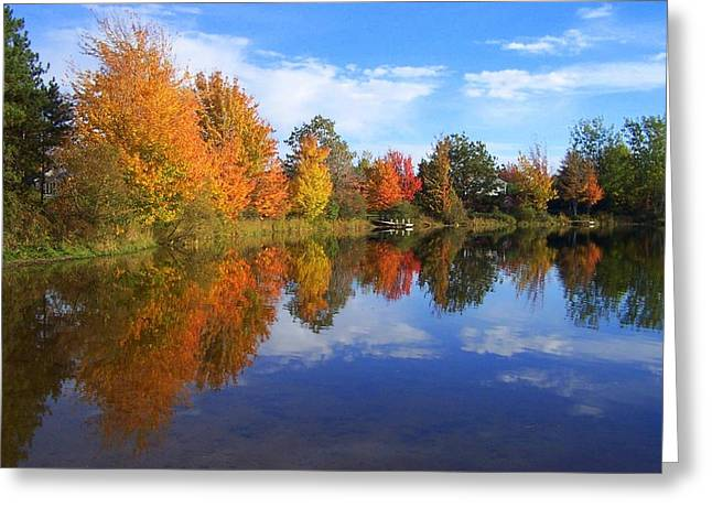 Autumn Reflections Greeting Card by Brian Chase