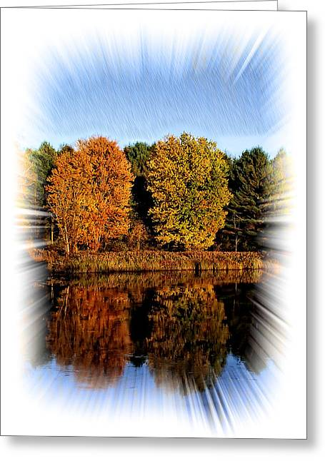 Autumn Reflections Greeting Card by Constantine Gregory