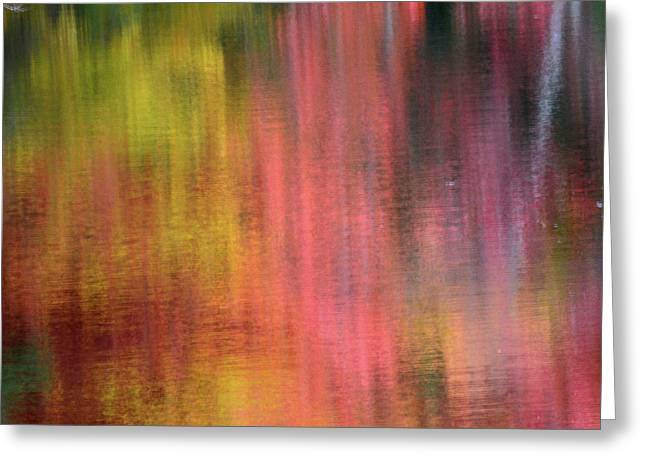 Autumn Reflections, Sheepscot River Greeting Card