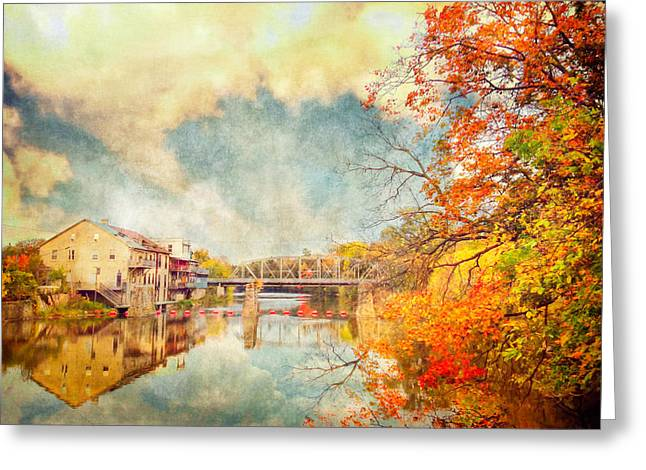 Autumn Reflections Greeting Card by Tracy Munson
