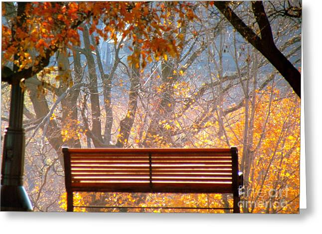 Greeting Card featuring the photograph Autumn Retreat by France Laliberte