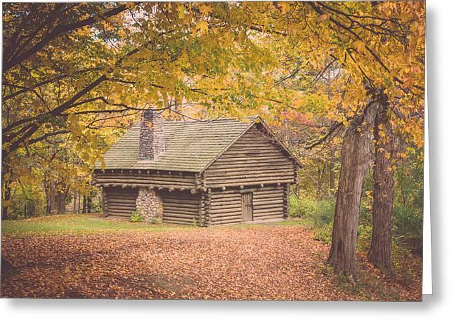 Autumn Retreat Greeting Card by Sara Frank