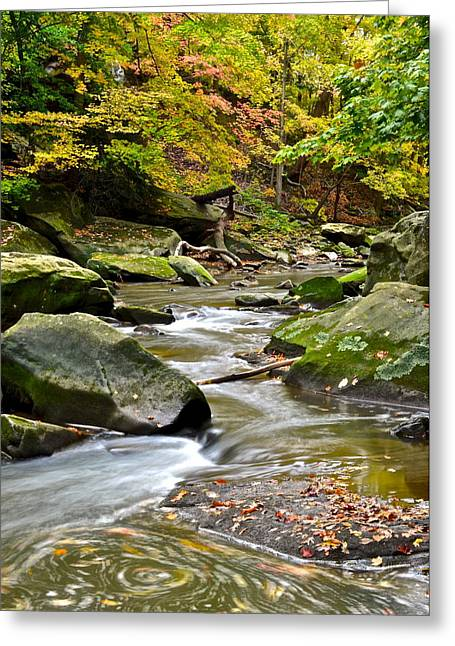 Autumn River Greeting Card by Frozen in Time Fine Art Photography