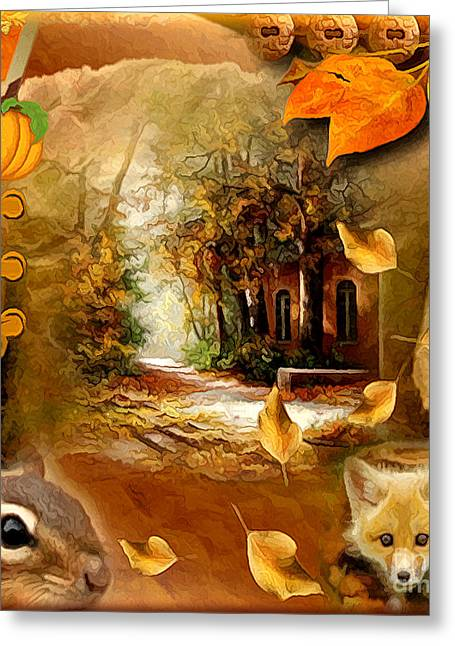 Autumn Scrap Greeting Card