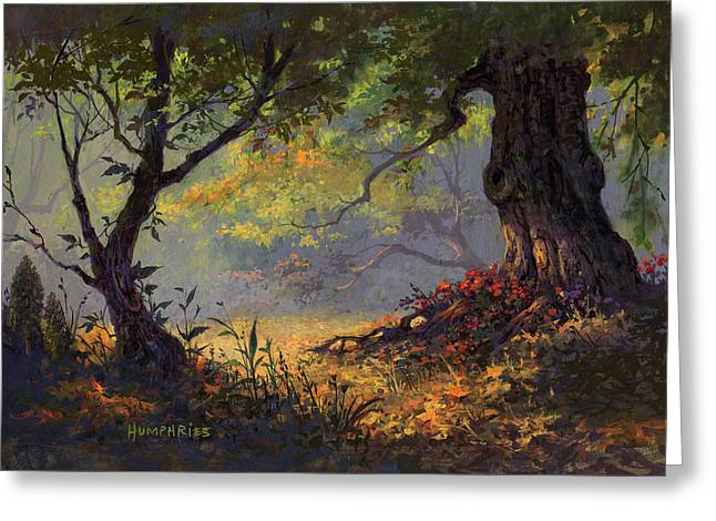 Autumn Shade Greeting Card by Michael Humphries