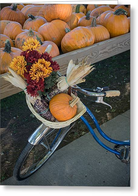 Greeting Card featuring the photograph Autumn Shopping by Wayne Meyer