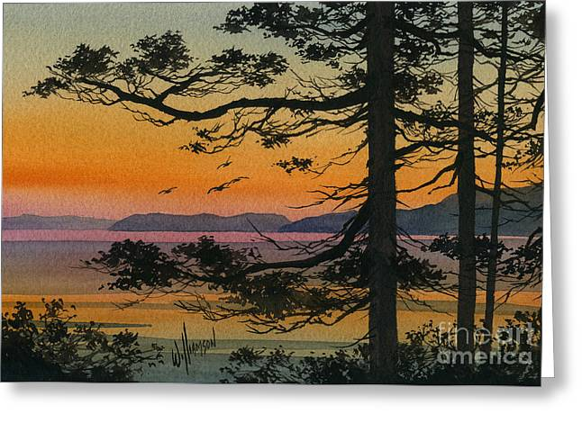 Autumn Shore Greeting Card by James Williamson