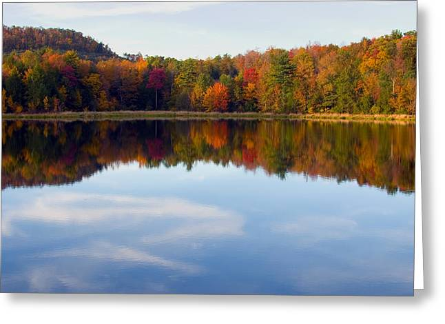 Autumn Shoreline Reflection Greeting Card