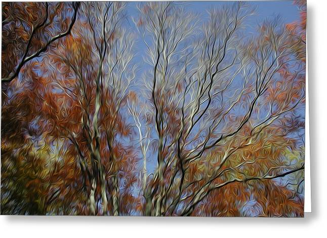 Greeting Card featuring the digital art Autumn Sky by Kelvin Booker