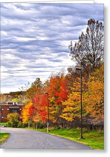 Autumn Sky Greeting Card by Frozen in Time Fine Art Photography